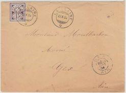 64B SUR LETTRE - CACHET DE LA PLAINE 1904 - POUR GEX FRANCE - 1882-1906 Coat Of Arms, Standing Helvetia & UPU