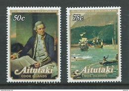 Aitutaki 1979 Cook Set Of 2 MNH Toned Perf Tips - Aitutaki