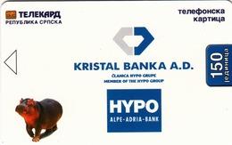 BOSNIA - Republica Srpska Telecard, Kristal Banka (glossy Suurface), Sample No CN - Bosnia