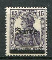 SARRE - Yv. N°  7  *   15p   Cote  0,6 Euros  BE  2 Scans - 1920-35 Saargebiet – Abstimmungsgebiet