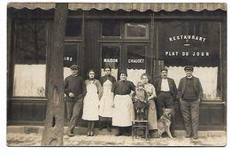 Devanture De RESTAURANT-CAFE - Maison CHAUDET - CARTE PHOTO Non Située - Restaurants