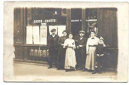 Devanture De CAFE-RESTAURANT - Maison LAROUSSE - CARTE PHOTO Non Située - Restaurants