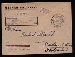 A4805) Österreich Austria Dienstbrief Wiener Magistrat 16.1.48 - 1945-.... 2. Republik