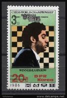 Korea Chess Kasparov Echecs Ajedrez Schach ( Mi#2719 Black ) Ovpt. MNH - Schach