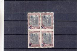Congo Belge - COB 226 Cu   ** - MNH - Bloc De 4 - Surcharge Recto Verso - Chutes D'eaux - Valeur 120 Euros - 1923-44: Ungebraucht