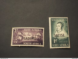 SUD AFRICA - 1952 REGINA/NAVE  2VALORI - NUOVI(++) - Sud Africa (...-1961)