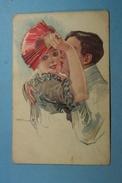 Illustration Couple Eventail - Illustrateurs & Photographes