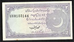 Pakistan Old 2  Rupees  Banknote Sign  M.Yaqoob - Pakistán