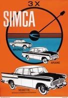 Automobile Simca Aronde Ariane Vedette 1959 - Postcard - Poster Reproduction - Publicité