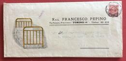 LETTI E SOFA' METALLICI INDUSTRIA FRANCESCO PEPINO TORINO  CATALOGO ILLUSTRATO  DEL 1927  RR - Pubblicitari