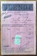 CATALOGO COMBUSTIBILI BERNOT RUE LAFAYETTE,160 PARIS  1920 CON MARCA DA BOLLO PERFINS - Pubblicitari