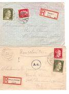 Einschreiben Brieven Aus Dessau 23/10/43&08/1/44 Zensur AC (Köln) Nach Belgien 806 - Allemagne