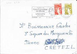 SAVOIE 73 - CHAMBERY  - FLAMME N° 4600  -  VOIR DESCRIPTION - 1979  -  BELLE FRAPPE - Marcophilie (Lettres)