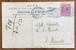 CARTOLINA PUBBLICITARIA  CARBONI FOSSILI GOSTINELLI & STIANTI FIRENZE CON LISTINO PREZZI PER IL 1923 - Pubblicitari