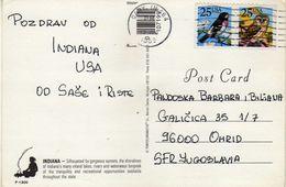 Sunset.United States > IN - Indiana Via Macedonia.nice Stamps Motive Birds - Etats-Unis