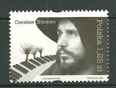 POLAND MNH ** 3898 Czeslaw Niemen Musique Musicien Chanteur - 1944-.... République