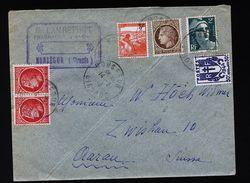 A4812) Frankreich France Brief Von Monsegur 14.3.46 Nach Aarau / CH - Frankreich