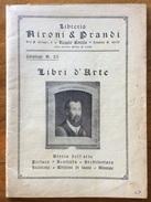 LIBRERIA NIRONI & PRANDI. CATALOGO N.23  CON 1060 OFFERTE  BEN CONSERVATO - Pubblicitari