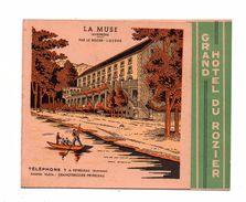Peyreleau. La Muse. Par Le Rozier. Grand Hotel Du Rozier. Dépliant Publicitaire. - Francia