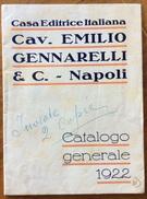CATALOGO PUBBLICITARIO 1922  CASA EDITRICE ITALIANA EMILIO GENNARELLI & C. NAPOLI - Pubblicitari