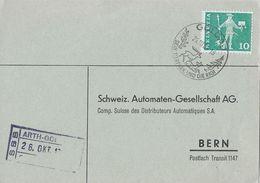 ARTH-GOLDAU → Drucksache Nach Bern (Schw.Automaten-Gesellsch.AG) ►SBB Fahrpost-Stempel 26.Okt.1964◄ - Schweiz