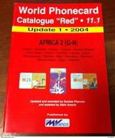 TELECARTE PHONECARD CATALOGUE N°11.1 AFRICA 2 (G-N) GABON, GAMBIA, GHANA, GUINEA, KENIA... DE 2004 EN BON ÉTAT 32 PAGES - Télécartes