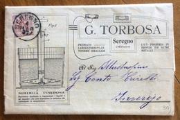 CATALOGO PUBBLICITARIO ILLUSTRATO DEL 1907 G.TORBOSA SEREGNO  POMPE IRRORATRICI BREVETTATE  CON LISTINO PREZZI - Pubblicitari