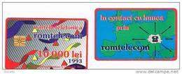 ROMANIA (ROMANIA) - ROMTELECOM  (CHIP) - 1993  ABSTRACT DESIGN 10000  - USED  -  RIF. 3353 - Romania