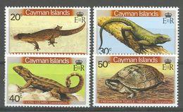 Cayman Islands 1981, Reptiles Lizards Mi.# 471-474, MNH / ** - Kaimaninseln