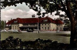 ! 1962 Ansichtskarte Bahnhof Ahlen In Westfalen, La Gare, Autos, Cars, Opel, VW Käfer, Voitures - Ahlen