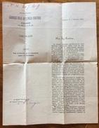 ENOLOGIA VINO  VOTO DEL GOVERNO CONTRO LA FILLOSSERA DELLA VITE CIRCOLARE DEL 7/10/1878 PER IL VINO ITALIANO... - Pubblicitari