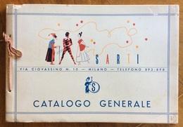 CATALOGO GENERALE ILLUSTRATO  MASCHERE CARNEVALE E VARIE DITTA SARTI MILANO - Pubblicitari