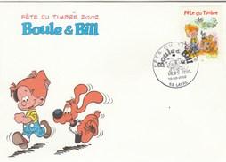 Yvert 3467 BOULE Et BILL FDC  Fête Du Timbre LAVAL Mayenne 16/3/2002 - Bande Dessinée - 2000-2009
