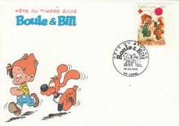 Yvert 3468 BOULE Et BILL FDC   Fête Du Timbre LAVAL Mayenne 16/3/2002 - Bande Dessinée Croix Rouge - 2000-2009