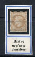 FRANCE- Y&T N°28B- Neuf Avec Trace Charnière * - 1863-1870 Napoléon III Lauré