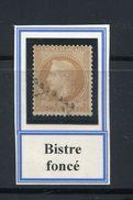 FRANCE- Y&T N°28Ba)- Bistre Foncé- Oblitéré - 1863-1870 Napoléon III. Laure