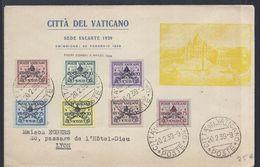 VATICAN CITTA DEL VATICANO 20.2.1939  Pour LYON FRANCE - Cartas