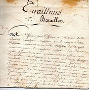 1er Bataillon Tirailleurs -MALINES,8 Thermidor 9ème Année. - Documents Historiques