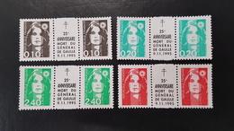 Type Marianne Du Briart N° 2617/2618/2806/2820 Variété Avec Pub Sur Le Pont Neuf ** Gomme D'Origine  TTB - 1989-96 Bicentenial Marianne