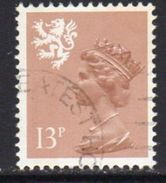 GB Scotland 1971-93 13p Waddington Type I Regional Machin, Used, SG 39 - Regional Issues