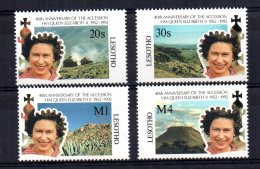 Lesotho - 1992 - 40th Anniversary Of QEII's Accession - MNH - Lesotho (1966-...)