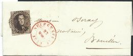 L Affr N°6 Margé P86 NEUFCHATEAU /1851 Pour Bouillon - 1851-1857 Medaillons (6/8)