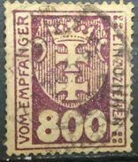 GERMANY 1921-22 DANZIG POSTAGE DUE VOM EMPFANGER EINZUZIEHEN - Dantzig