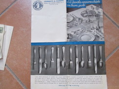 JOMMETTI E CANEPA Roma Depliant Posate La Tavola Apparecchiata Con Buon Gusto Posate Marca KRUPP - Vecchi Documenti