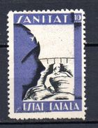 Viñeta Nº 647/ 1778  Sanitat. - Verschlussmarken Bürgerkrieg