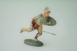 Elastolin, Lineol Hauser, Knight / Crussader - Knight Running, 1950, Vintage Toy Soldier - - Figurines