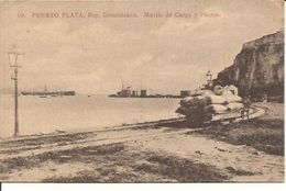 DOMINICANA  PUERTO PLATA MUELLE DE  CARGA Y  Puerto  +/-  1910 Not Posted 6/184 D4 - Dominicaanse Republiek