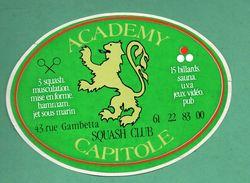 ACADEMY CAPITOLE SQUASH CLUB - SPORT /  AUTOCOLLANT - Autocollants