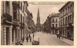 BELGIQUE - BRUXELLES - ETTERBEEK - Rue Général Leman Et Eglise Ste-Gertrude - Generaal Lemanstraat En St-Gertrudakerk. - Etterbeek