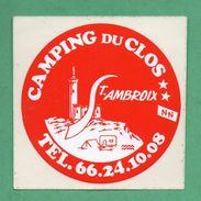 CAMPING DU CLOS ST AMBROUX /  AUTOCOLLANT - Autocollants